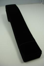 *[ 9195 ] Arm/Horloge show plank 22.5 x 4 cm. Zwart Fluweel, per stuk