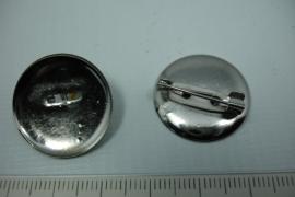 [ 5785 ] Brosch speld Rond, 24 mm. 3 stuks