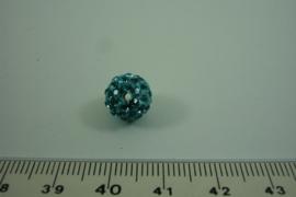 [ 1017 ] Shambala kraal 10 mm. Licht Blauw, per stuk