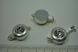 [ 0805 ] Insteekslot 12 x 19 mm. met Zirkonia, Verzilverd, per stuk