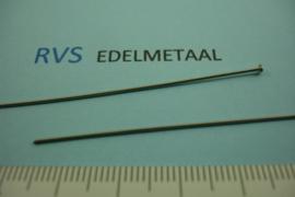 [ 8356 ] RVS, Nietstift 75 mm. per 20 stuks