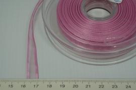 [8088 ] Organza lint 7 mm. Licht Roze,  per Meter