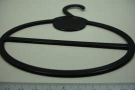 *[ 8328 ] Sjaal hanger Ovaal 13.5 cm. per 5  stuks