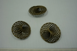 [5533 ] Draad kraal 20 mm. Brons, per stuk