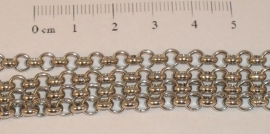 (0188) Jasseron 4,8 mm chroom. 1 mtr.