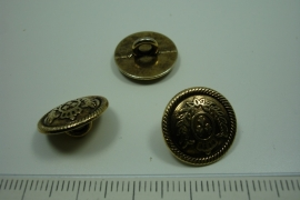 [ 0907 ] sluit Knoop 15.5 mm. Metaal, Koperkleur, per stuk