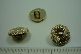 [ 0902 ] sluit Knoop 15 mm. Kunstof, Goud, per stuk