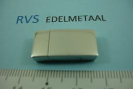 [8439 ] RVS,  Magneet slot  10 x 2 mm. inw.  per stuk