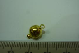 [ 6392-A ] Magneet slotje 7½ mm. Goud kleur, per stuk