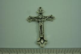 [ 0527 ] Kruis 40 mm. metaal bewerkt, per stuk