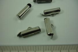 [ 7039 ] Inschuif einde 13 mm. crome kleur, per 6 stuks