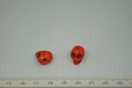 [0407 ] Doodshoofd 13 mm. Oranje