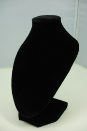 *[ 9194 ] Hals punt Mini, Zwart Fluweel 15 cm.
