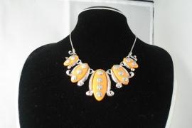 [OR,013] Oranje Hals ketting type 2
