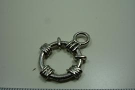 [ 0931 ] Gesloten Boei met oog 21 mm.  per stuk