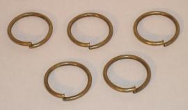 (5123) Ring open  8 mm. brons,  40 stuks.