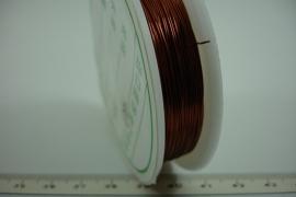 [ 6385 ] Koperdraad 0.4 mm. Koperkleur, 40 meter