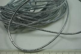 [ 8207 ] Metalic Zilverdraad Waskoord 1.1 mm.  5 meter
