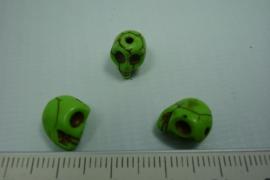 [ 0748 ] Doodshoofd 10 mm. Groen, per stuk