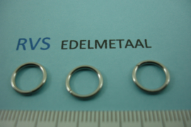 [ 8416 ] RVS,  Open ring 10 mm. x 1.2 mm. per 40 stuks
