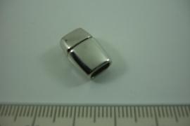 [ 8494 ] Magneet slot 6 x 3 mm. inw. Zilverkleur, per stuk