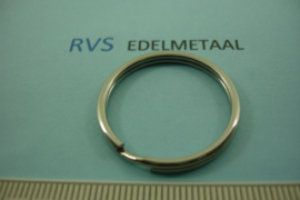 [ 8543 ]  RVS  Split ring  28 mm.  per 2 stuks