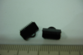 [ 6393 ] Lintklemmen 10 mm. Git Zwart, per 2 stuks