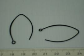 [5331 ] Oorhaak Ellipse Git Zwart, 1 paar