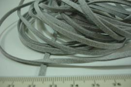 [ 6024 ] Suede veter 3 mm. licht Grijs, 5 meter