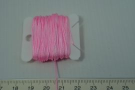 [5313 ] Nylon koord 0.7 mm. Roze,  10 meter