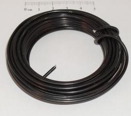 (5037) Aluminium draad 2mm zwart. 5 mtr.