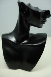 *[ 9171 ] Hoofdje Zwart 19.5 x 14.5 cm. per stuk