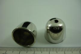 [ 6708 ] Metallook Kap 12 mm. Zilverkleur, per stuk