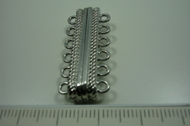 [ 0847 ] Magneet slot 33 mm. x 14 mm. 6 ogen, per stuk