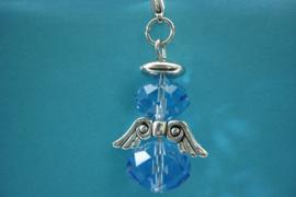 [ 1203 ] Engeltje 45 mm. van Spacer Glas Kralen, Licht Blauw, per stuk