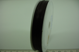 [8166 ] Acculon draad, dikte 0.45 mm. D. Bruin, 100 meter