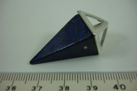 [ 1327 ] Pendel Hanger 35 mm. Lapiz Lazuli, per stuk