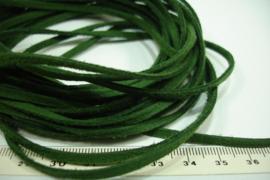 [ 6027 ] Suede veter 3 mm. donker Groen, 5 meter