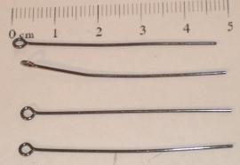 (5106) Kettelstift 45 mm antraciet. 40 stuks.