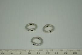 [0337 ] Doorrijg ring 15 x 12.8 mm Zilverkleur