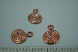 [0698 ] Spiraal 17 x 13 mm. Rosé kleur, per stuk