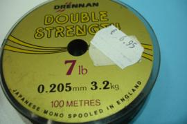 +[ 7099 ] Nylondraad 0.205 mm. helder, dubbelsterk