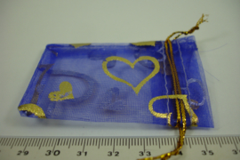 [ 6903 ] Organza zakjes 5 x 5.5 cm. Paars, per 10 stuks