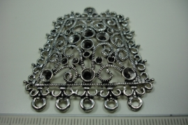 [ 6179 ] Ornament 50 x 45 mm. nr. 66, Zilverkleur, per stuk