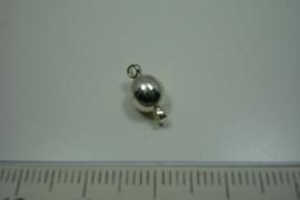 [5253 ] Magneet slotje 6 mm. Verzilverd, per stuk