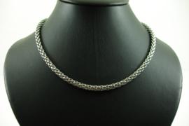 [ 6939 ] Alluminium Ketting 40 cm. met metaal slotje