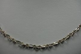 [ 6278 ] Sier Ketting 62 cm. Zilverkleur, per stuk