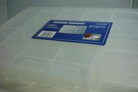 *[ 9139 ] Sorteerdoos Transparant 38.2 x 23.4 x 4.8 cm.  4 tot 24 vaks