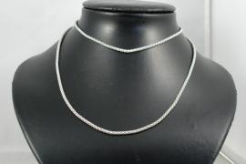 [ 5876 ] Ketting metaal Zilverkleur 77 cm. per stuk