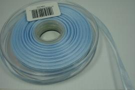 [8089 ] Organza lint 7 mm. Licht Blauw, per meter